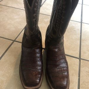 Lucchese square toe boots